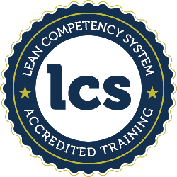 Lean Competency System accreditation badge
