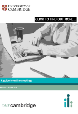 Click here for our guide to online meetings