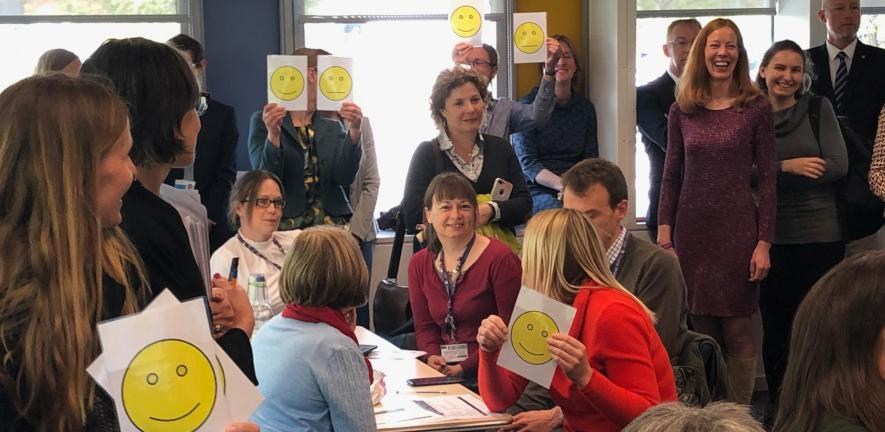 An image showing staff at a recent ourcambridge event