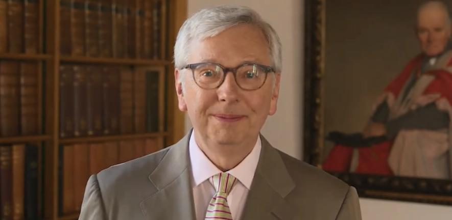 An image of the Vice-Chancellor in his announcement video about the ourcambridge bursaries